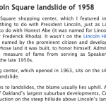 The Lincoln Square Landslide of 1958